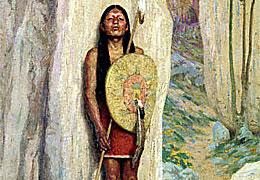 Vaquero y indio