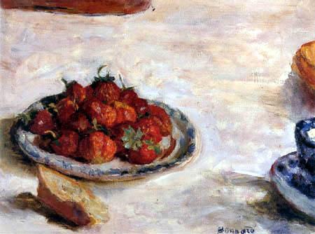 Pierre Bonnard - Plato de fresas
