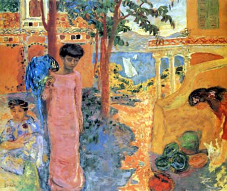 Pierre Bonnard - Die Frau mit dem Papagei
