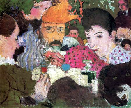 Pierre Bonnard - Té en el jardín