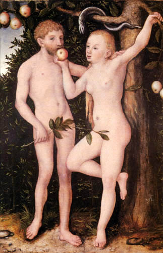 Lucas Cranach el Viejo - Adán y Eva