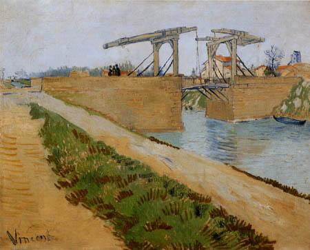 Vincent van Gogh - El puente de Langlois en Arles