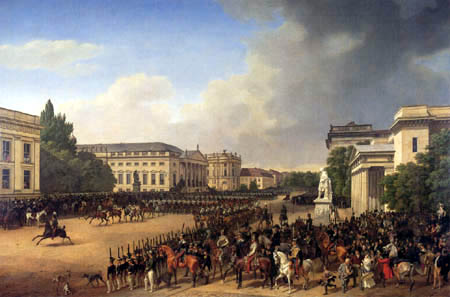 Franz Krüger - Parade auf dem Opernplatz
