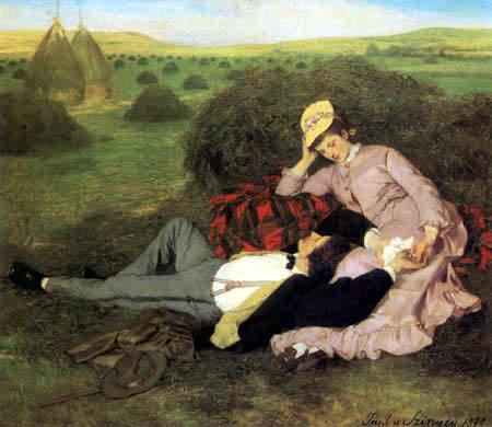 Una pareja de enamorados - Szinyei Pál Merse - como impresión ...