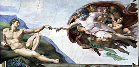 Miguel Ángel - La creación de Adán