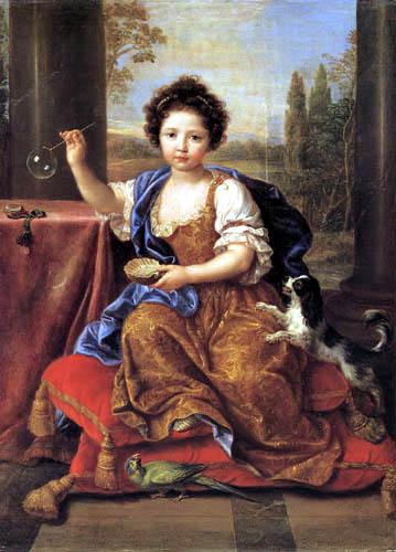 Pierre Mignard - Portrait d' Louise-Marie-Anne de Bourbon