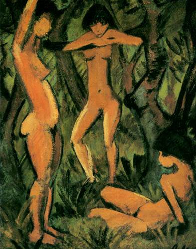 Otto Mueller - Three women in the forest