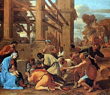 Nicolas Poussin - Die Anbetung der Könige