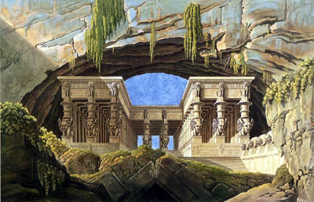 Karl Friedrich Schinkel - The portico at the Palace of the Queen of the Night