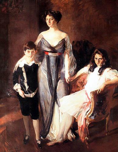 Joaquín Sorolla y Bastida - Mrs. Ira Nelson Morris with her children