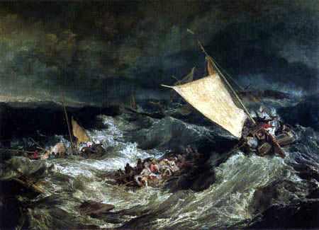 Joseph Mallord William Turner - Le naufrage