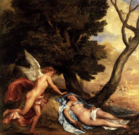 amore and psyche. Dyck - Cupid and Psyche