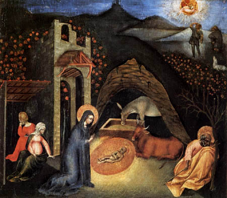 images of jesus birth pictures. Giovanni di Paolo - Birth of Jesus