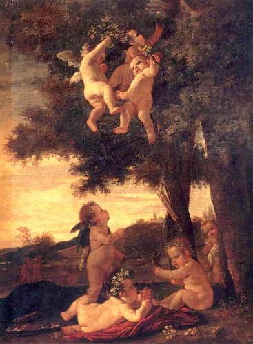 Nicolas Poussin  - Cupidons et génies