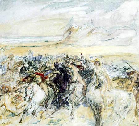 Max Slevogt  - Battle of amazones