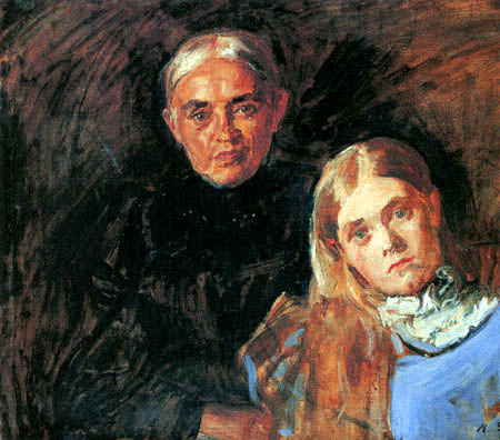 Max Slevogt  - Mother with daughter