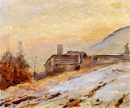Max Slevogt  - Neukastel im Winter