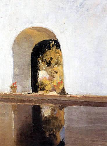 Joaquín Sorolla y Bastida  - Alberca en el Alcázar de Sevilla