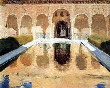 Joaquín Sorolla y Bastida  - El Patio de Comares, La Alhambra de Granada