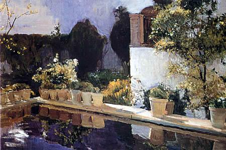 Joaquín Sorolla y Bastida  - La alberca, Alcázar de Sevilla