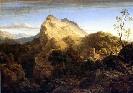 Ernst Fries - Paysage de Olevano