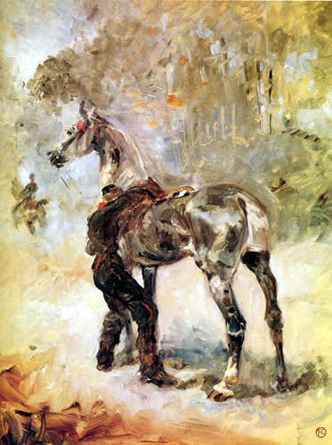 Henri de Toulouse-Lautrec - Soldier and horse