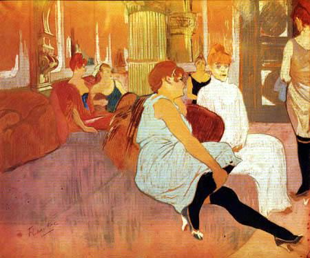 Henri de Toulouse-Lautrec - Der Salon in der Rue des Moulins
