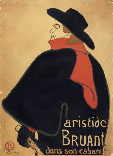 Henri de Toulouse-Lautrec - Plakat Aristide Bruant Cabaret
