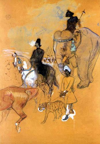 Henri de Toulouse-Lautrec - Escorte de Râja