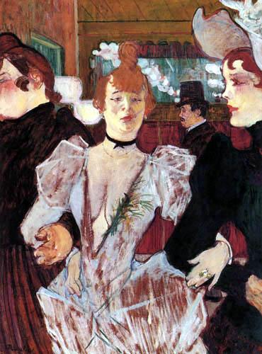 Henri de Toulouse-Lautrec - La Goulue betritt das 'Moulin Rouge'