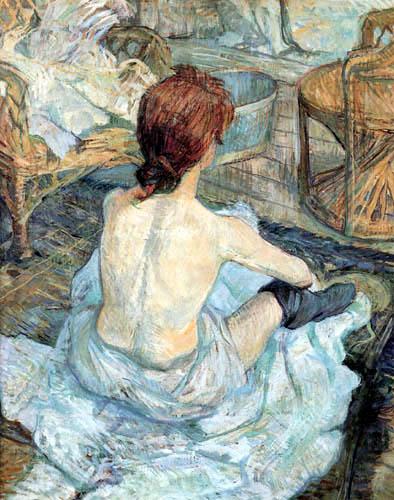 Henri de Toulouse-Lautrec - Frau bei ihrer Toilette