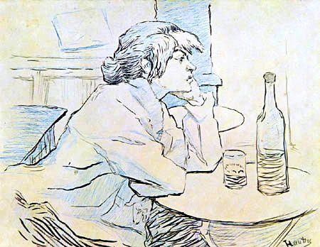 Henri de Toulouse-Lautrec - Die Trinkerin