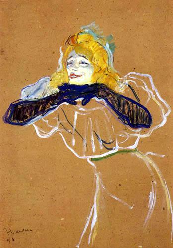 Henri de Toulouse-Lautrec - La cantante Yvette Guilbert 'Linger, Longer, Loo'