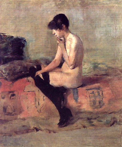 Henri de Toulouse-Lautrec - Nude, Study
