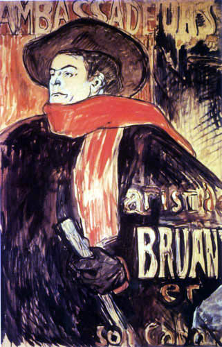 Henri de Toulouse-Lautrec - Ambassadeurs: Aristide Bruant
