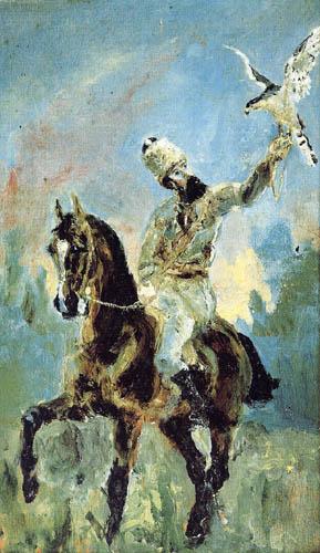 Henri de Toulouse-Lautrec - On the falcon hunt