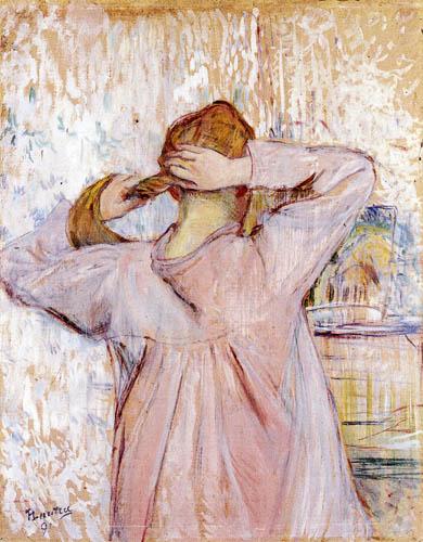 Henri de Toulouse-Lautrec - Celle qui se Peigne