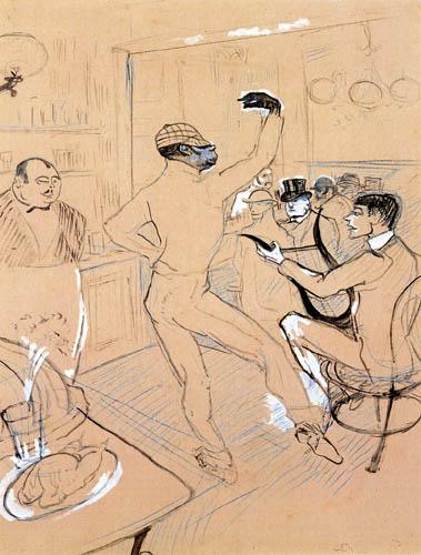 Henri de Toulouse-Lautrec - Chocolat Dancing in 'The Irish American Bar'