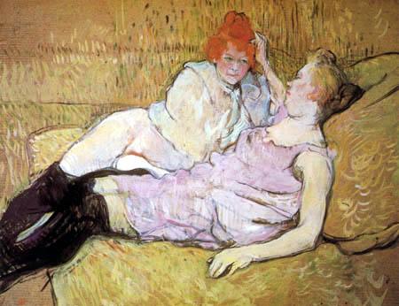 Henri de Toulouse-Lautrec - The Couch
