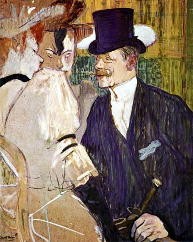 """Henri de Toulouse-Lautrec - The Englishman in the """"Moulin Rouge"""""""