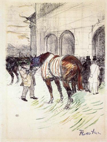 Henri de Toulouse-Lautrec - Der Sattelplatz