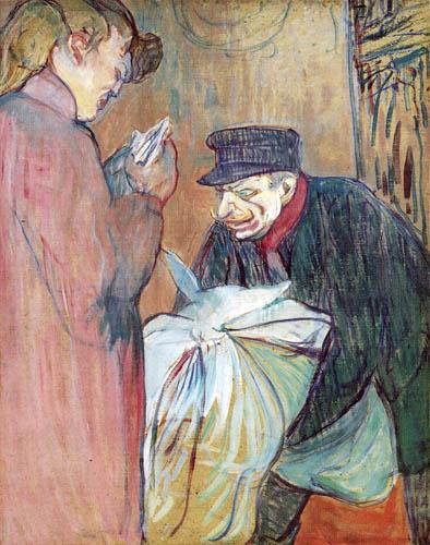 Henri de Toulouse-Lautrec - The laundry man of the brothel