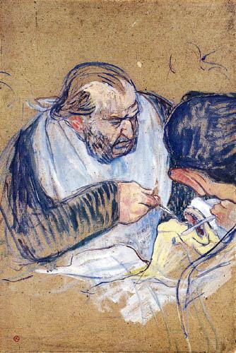 Henri de Toulouse-Lautrec - Une Opération aux Amygdales, Dr. Jules Emile Péan