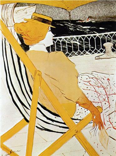 Henri de Toulouse-Lautrec - The traveler of cab 54