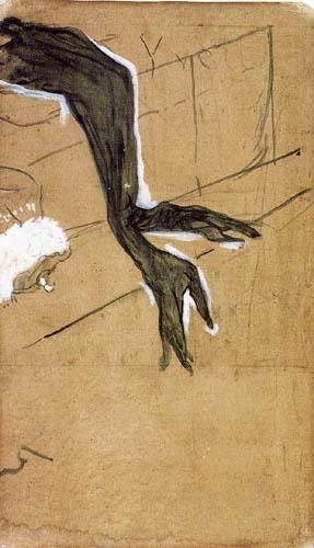Henri de Toulouse-Lautrec - The black gloves of Yvette Guilbert
