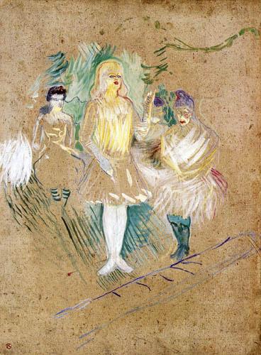 Henri de Toulouse-Lautrec - Three Actors in the Folies Bergère