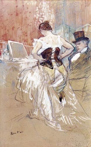 Henri de Toulouse-Lautrec - Femme Mettant son Corset
