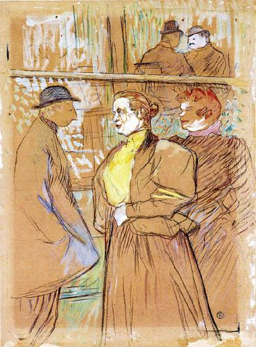 Henri de Toulouse-Lautrec - Au Moulin Rouge, dans la Salle du Bal