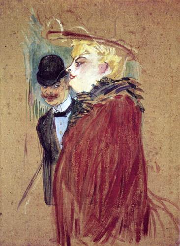 Henri de Toulouse-Lautrec - Colonnade, covetousness