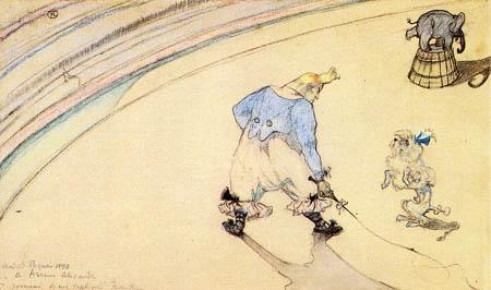 Henri de Toulouse-Lautrec - In the Circus, Clown as a Trainer
